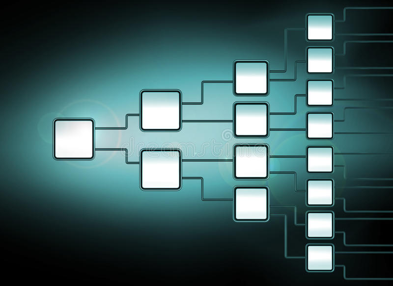 Network flowchart graph management. With flare effect royalty free illustration