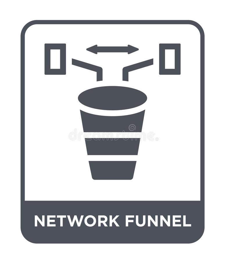 network funnel icon in trendy design style. network funnel icon isolated on white background. network funnel vector icon simple stock illustration