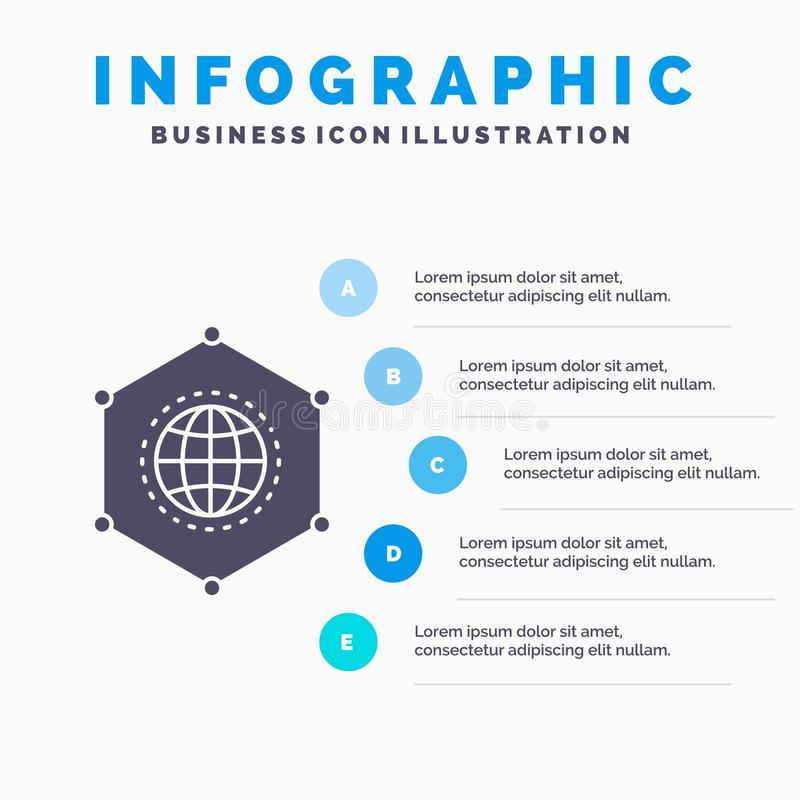 Network, Global, data, Connection, Business Infographics Template for Website and Presentation. GLyph Gray icon with Blue vector illustration