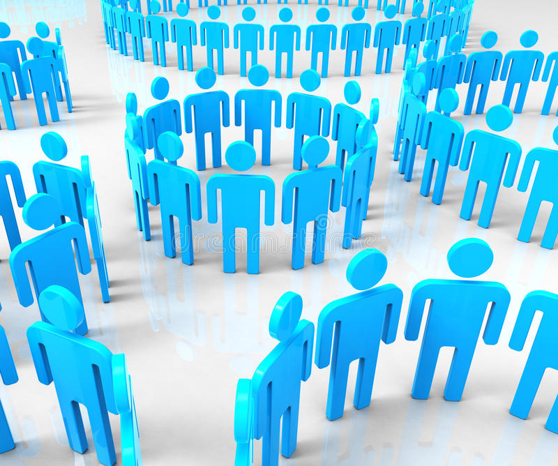 Network Groups Means Global Communications And Communicate stock illustration
