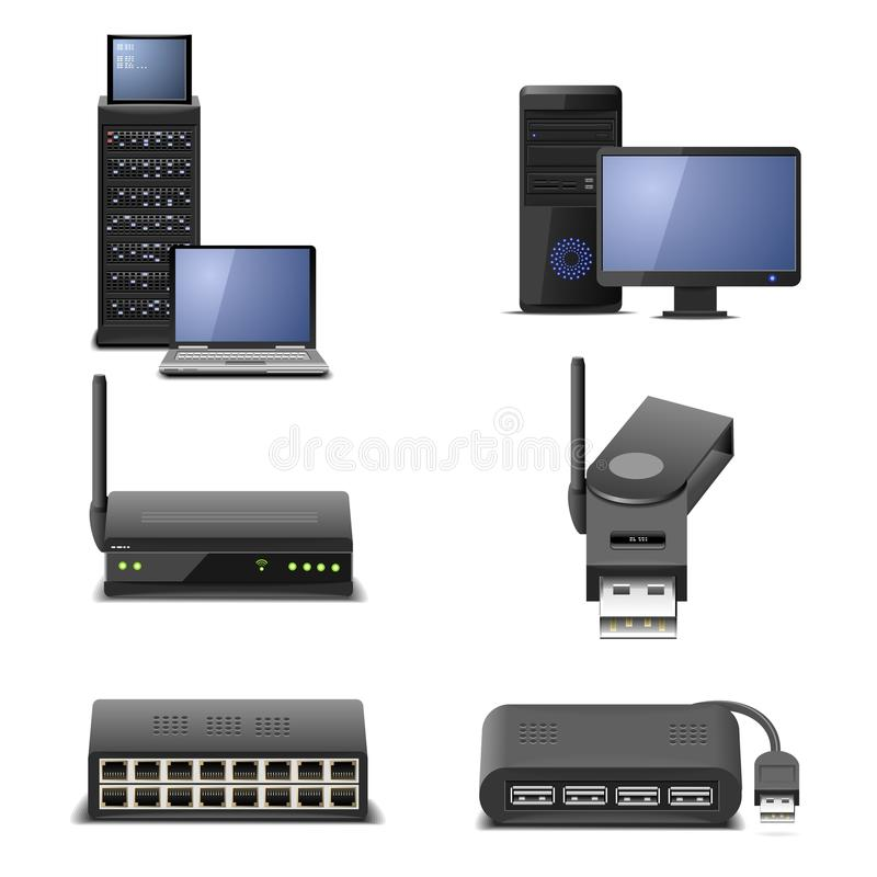 Network hardware part 2 stock illustration