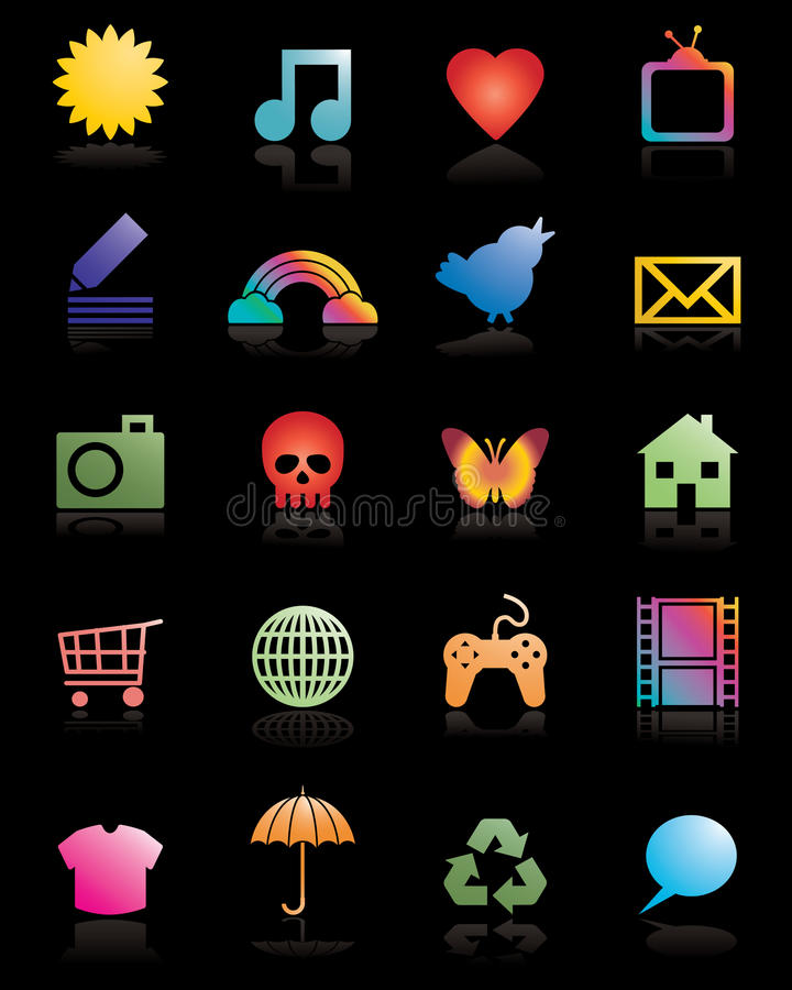 Download Network icons stock vector. Illustration of shadow, blog - 12888046