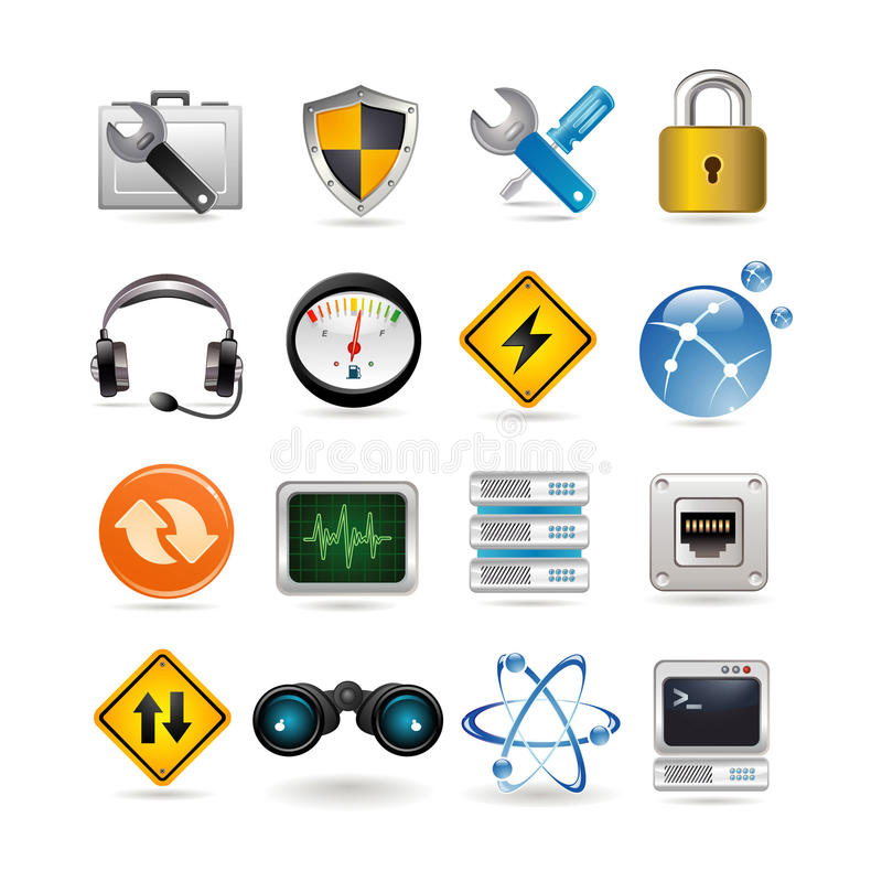Free Network Icons Stock Images - 13984464