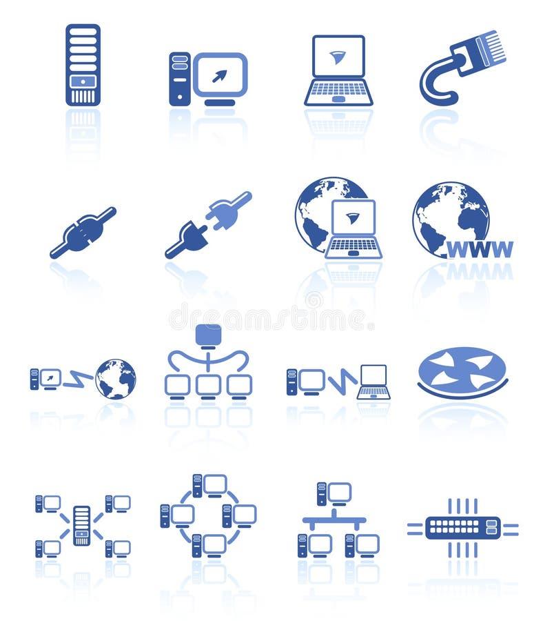 Network icons stock illustration