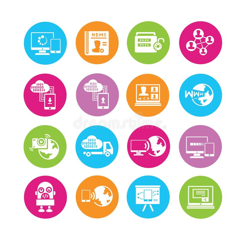 Network icons stock illustration