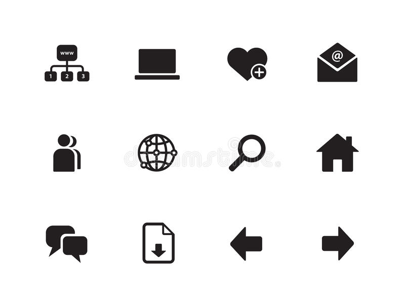 Network icons on white background.