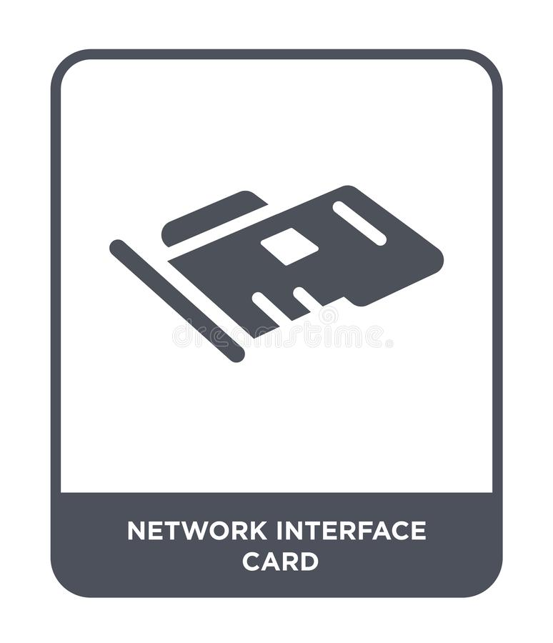 Network interface card icon in trendy design style. network interface card icon isolated on white background. network interface. Card vector icon simple and vector illustration