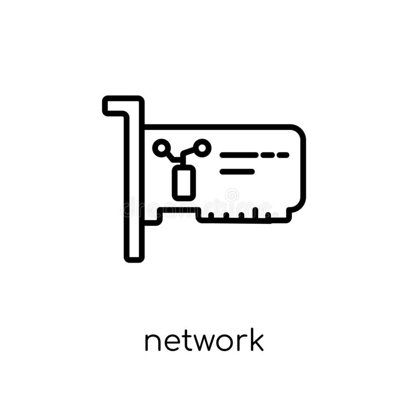 Network Interface Card icon. Trendy modern flat linear vector Ne. Twork Interface Card icon on white background from thin line hardware collection, editable vector illustration
