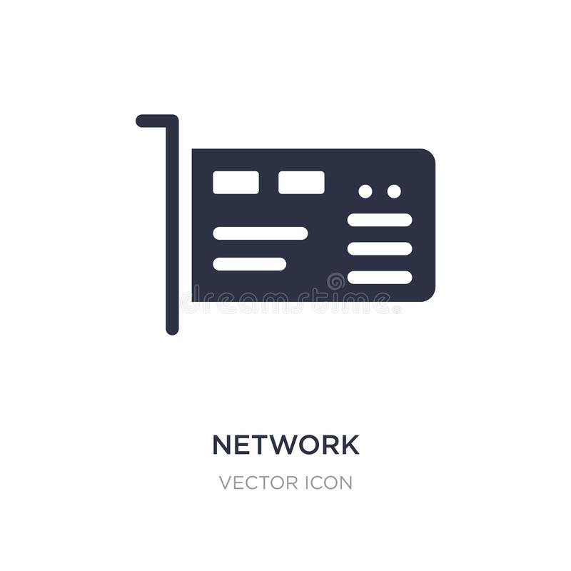 Network interface card icon on white background. Simple element illustration from Hardware concept. Network interface card sign icon symbol design stock illustration