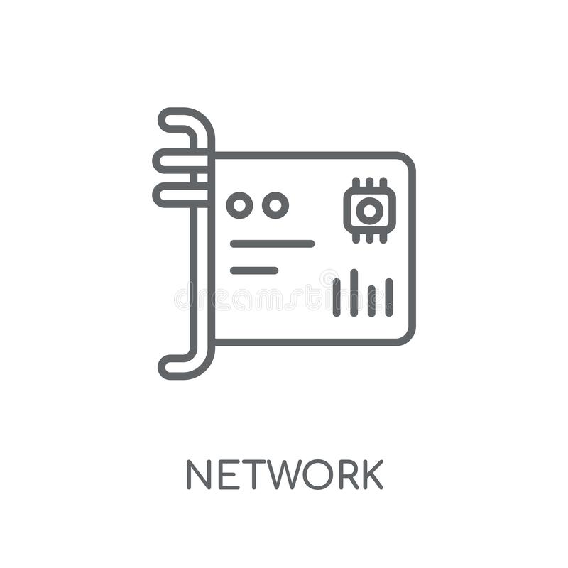 Network Interface Card linear icon. Modern outline Network Inter. Face Card logo concept on white background from hardware collection. Suitable for use on web vector illustration
