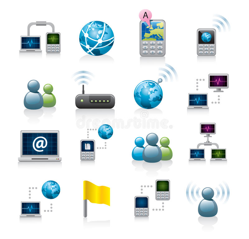 Network or internet icons vector illustration