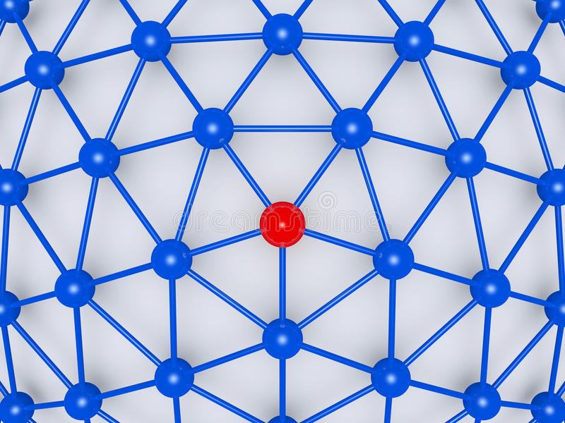 Download Network With Leader At The Center Stock Illustration - Image: 31249613