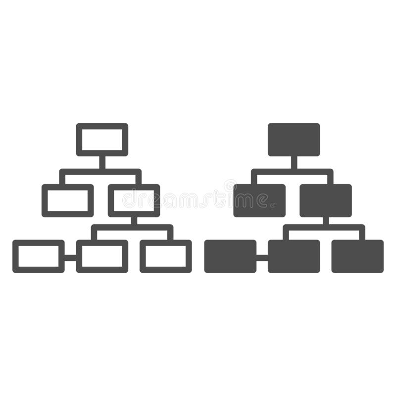 Network line and glyph icon. Internet connection vector illustration isolated on white. Structure outline style design. Designed for web and app. Eps 10 royalty free illustration