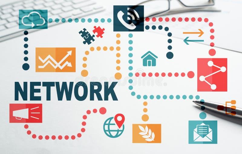 Network media background. Social media and network concept over white background vector illustration