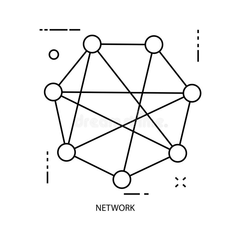 Network. Business line illustration vector illustration
