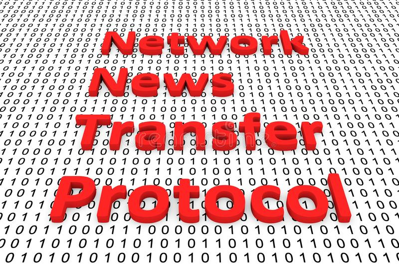 Network News Transfer Protocol ilustração do vetor