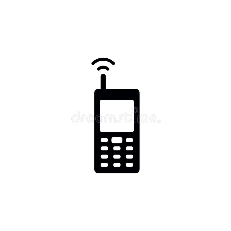 Network phone icon. Simple glyph vector of universal set icons for UI and UX, website or mobile application. On white background vector illustration