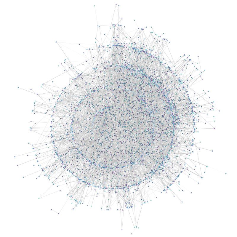 Network. Random scale-free network with 4000 nodes (generated through a preferential attachment mechanism stock illustration