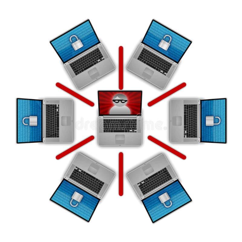 Download Network Security stock illustration. Illustration of hack - 8413106