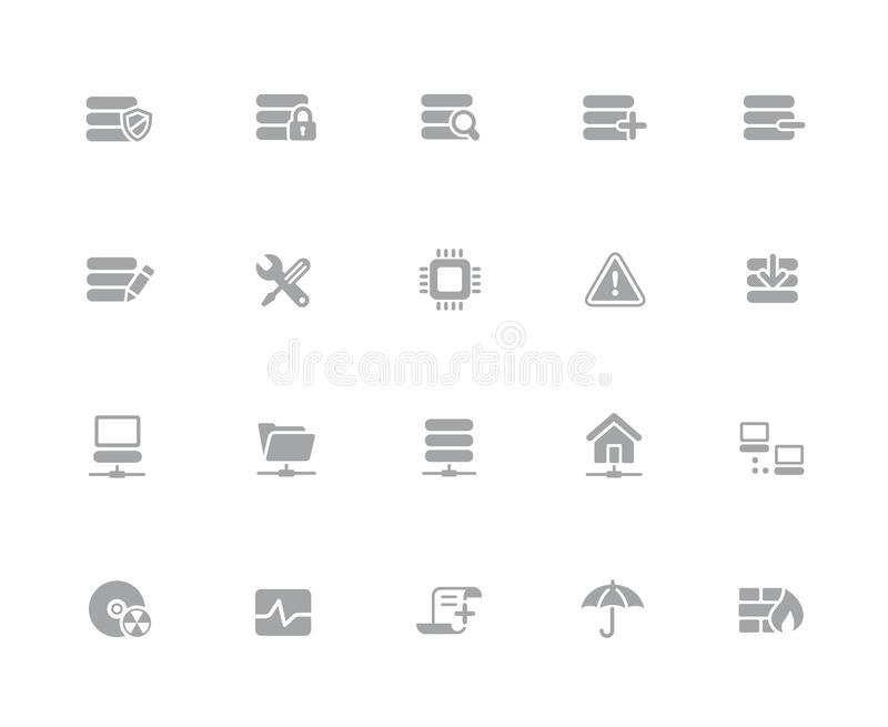 Network & Server Icons // 32 pixels Icons White Series royalty free illustration