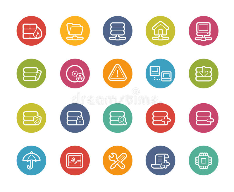 Network and Server Icons -- Printemps Series stock illustration