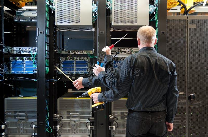 Network server installation royalty free stock photo