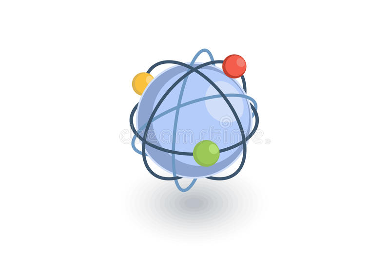 Network, social media, global communication, internet isometric flat icon. 3d vector royalty free illustration