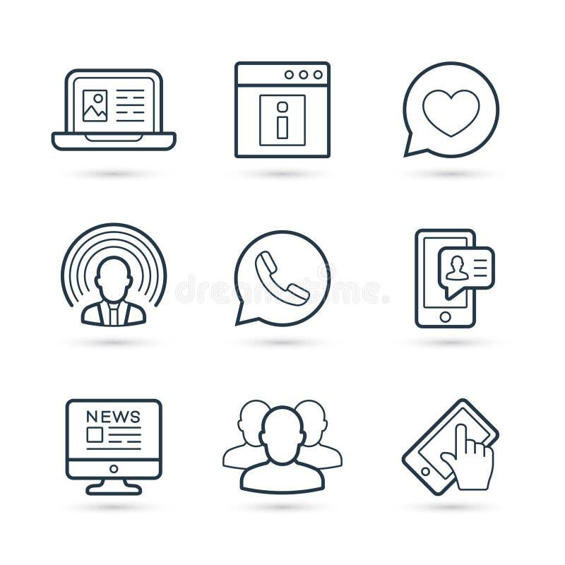 Network social media icon pack. Vector eps 10 royalty free illustration