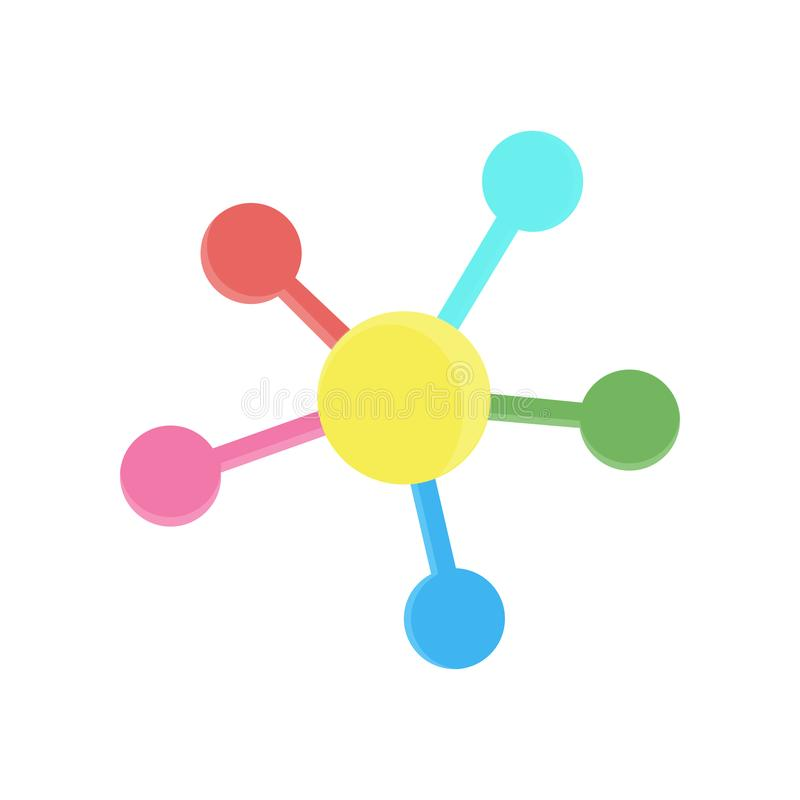 Network social vector connection media circle concept connect flat social web symbol stock illustration