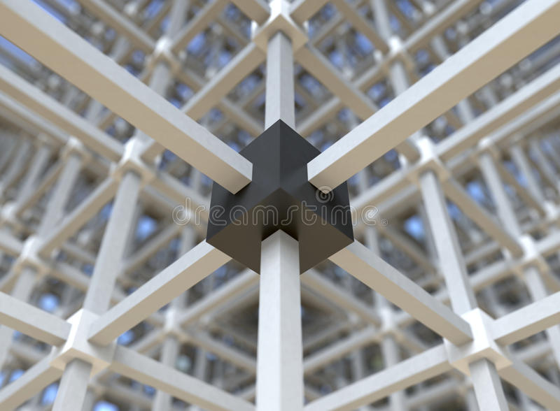 Network Structure Stock Images