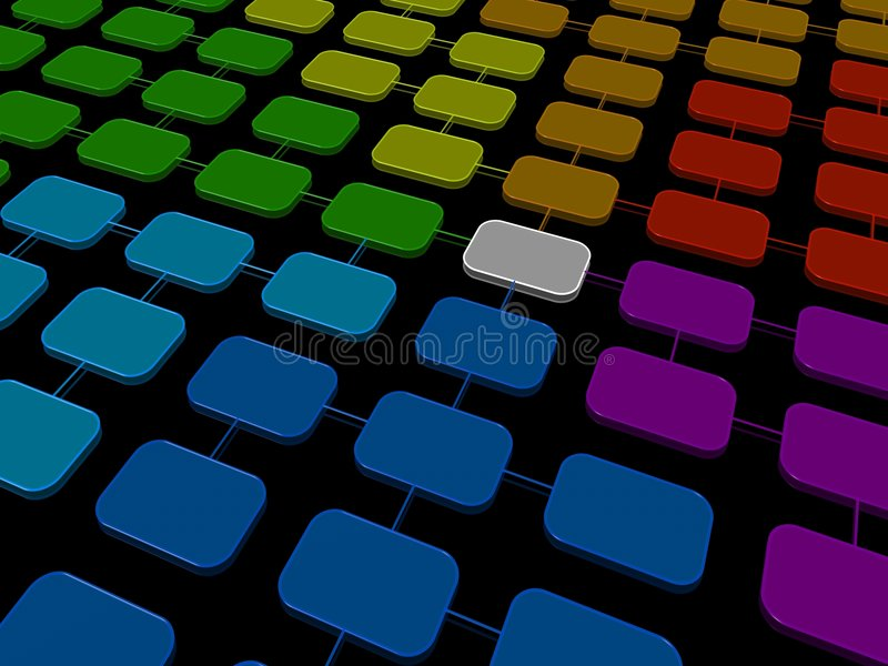 Network structure stock photo