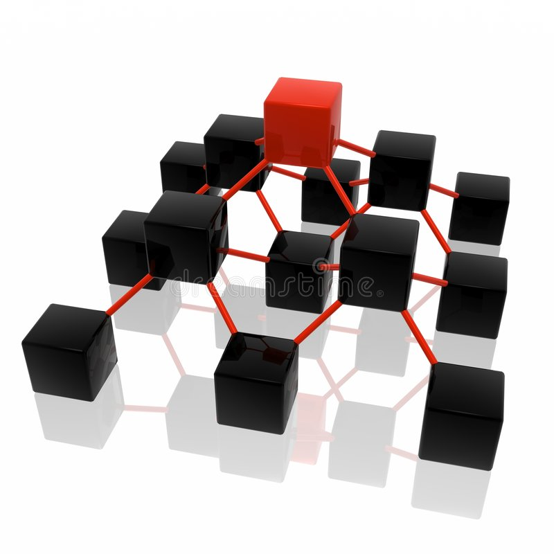Network structure stock illustration