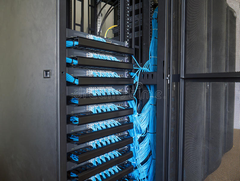 Network Switch In Rack Cabinet Stock Image - Image of concept ...