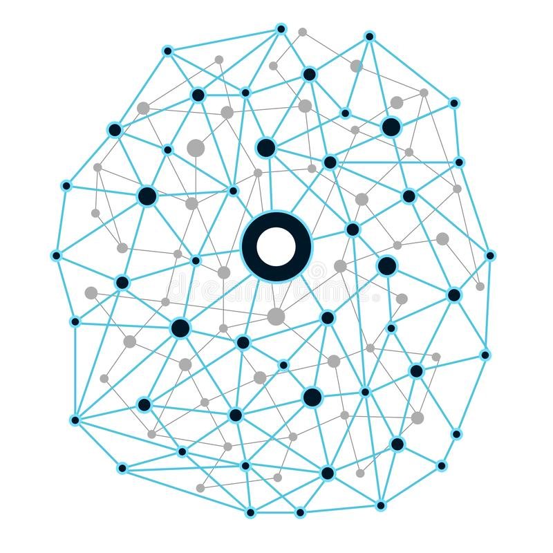 Network technology background. Vector illustration EPS10 vector illustration