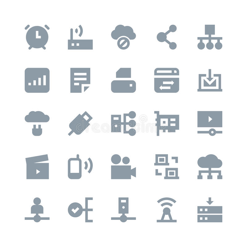 Network Technology Vector Icons 3. You can use this Network Technology Vector Icons set to manage a lot of information, around the world and interact with other stock illustration
