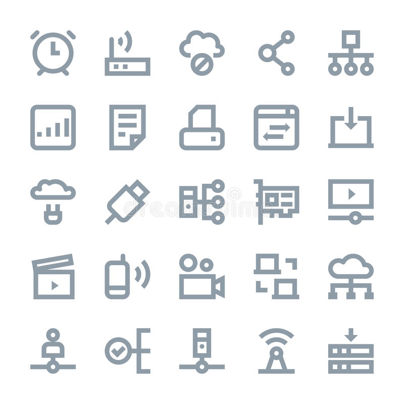 Network Technology Vector Icons 3. You can use this Network Technology Vector Icons set to manage a lot of information, around the world and interact with other royalty free illustration