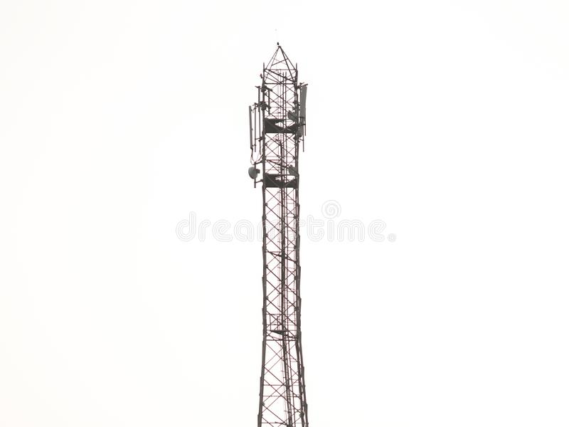 A network tower with white background stock photos