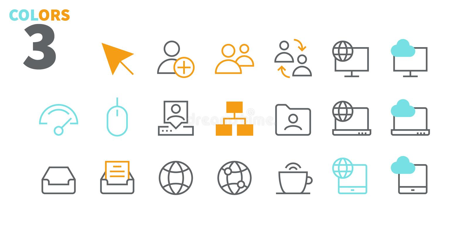 Network UI Pixel Perfect Well-crafted Vector Thin Line Icons 48x48 Ready for 24x24 Grid with Editable Stroke. Simple stock illustration