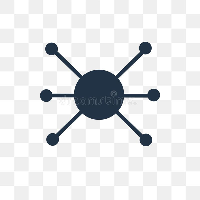 Network vector icon isolated on transparent background, Network vector illustration