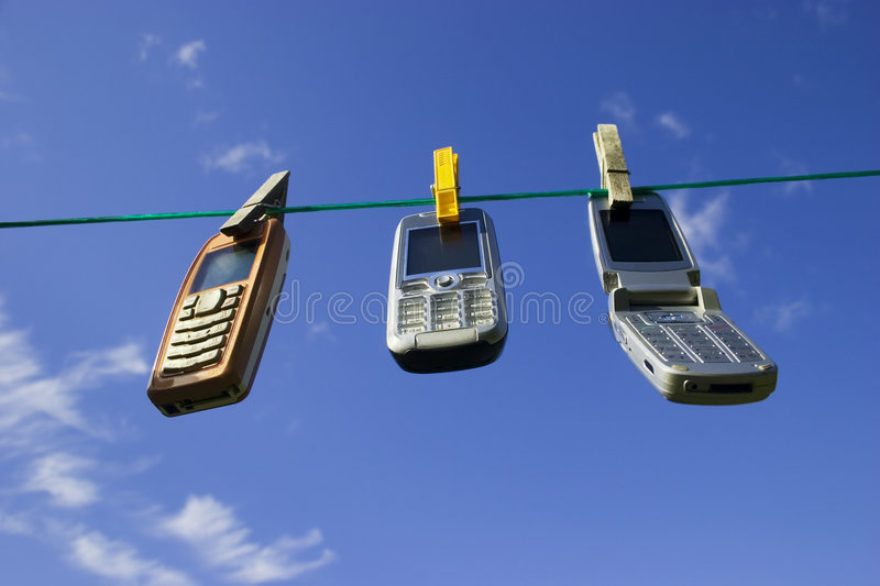 Network of wireless devices royalty free stock photos