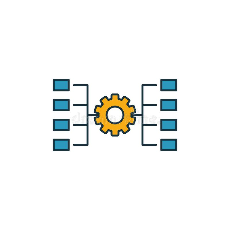 Network Workflow icon. Outline filled creative elemet from big data icons collection. Premium network workflow icon for ui, ux,. Apps, software and infographics stock illustration