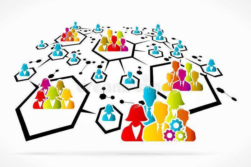 Network Works. Social media business vector illustration vector illustration