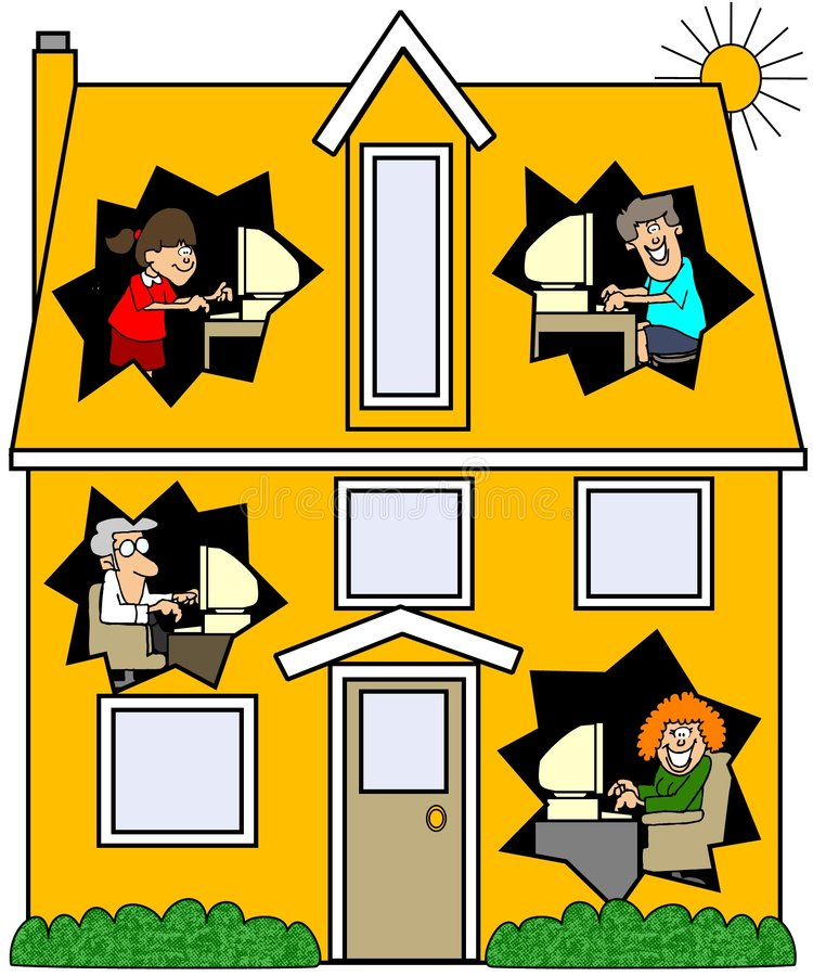 Networked House vector illustration