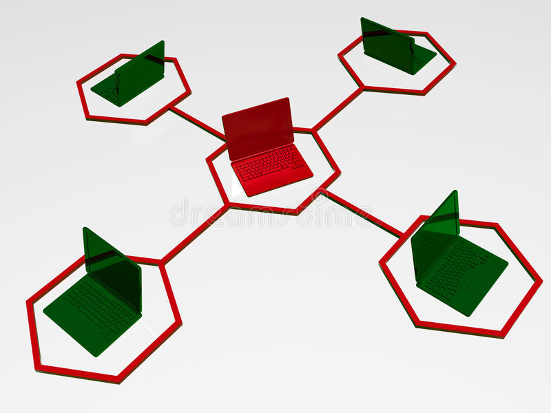 networking ilustracja wektor