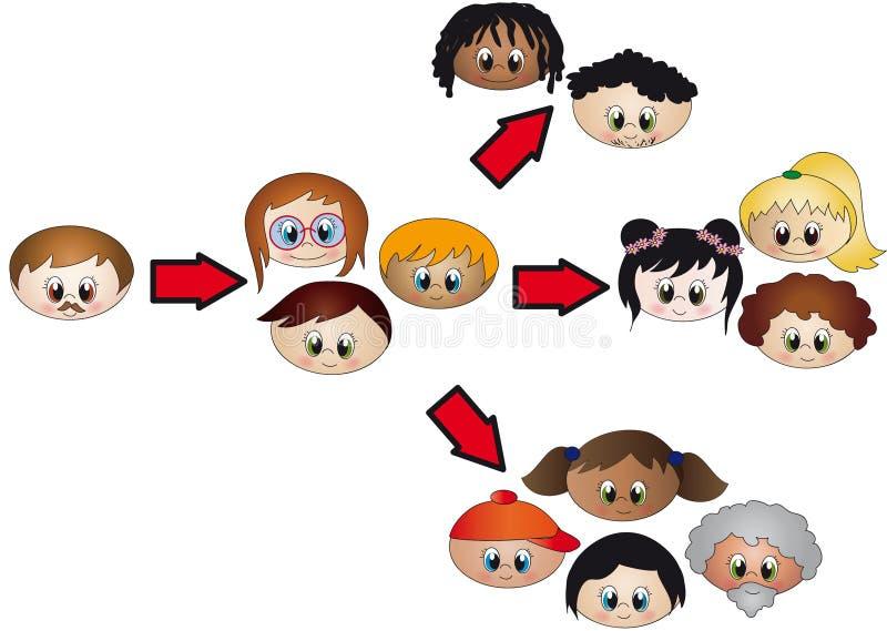 Networking vector illustration