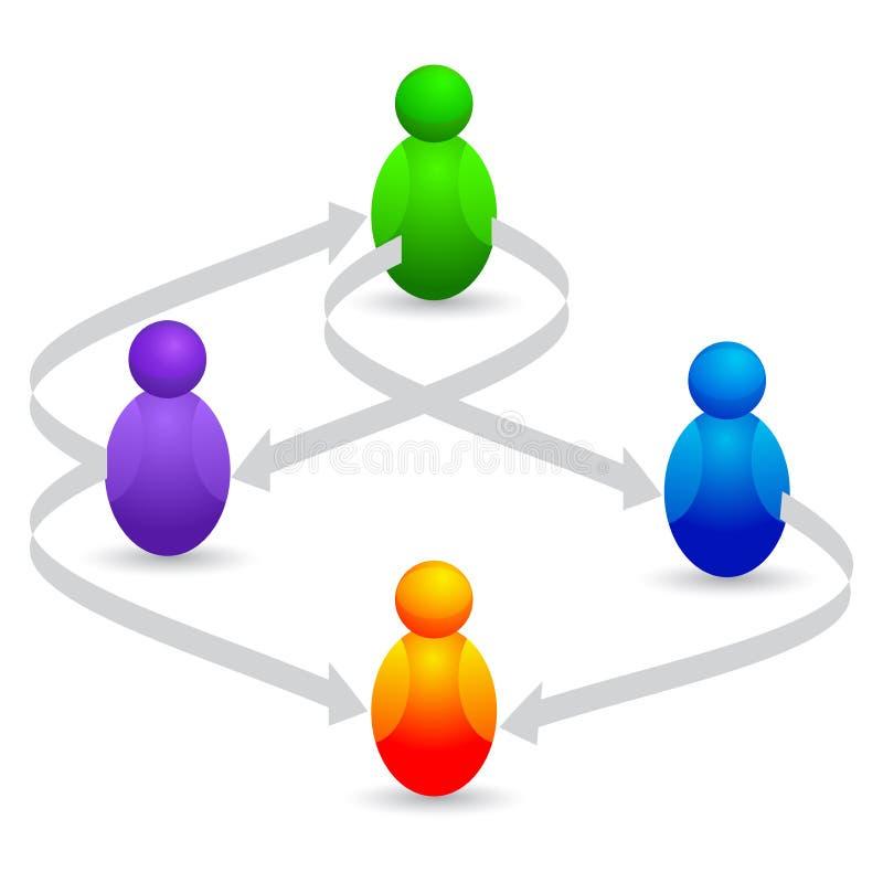 networking royalty ilustracja