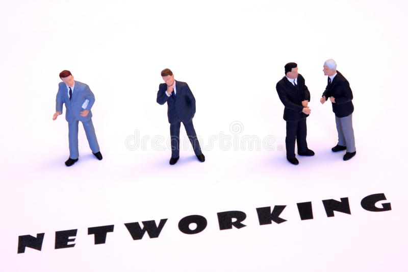 Networking businessmen royalty free stock photo