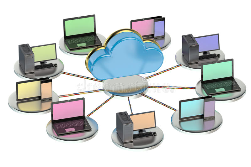 Networking computing concept royalty free illustration