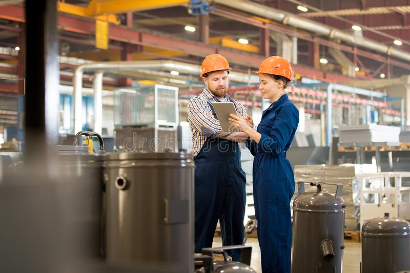 Networking engineers stock photo