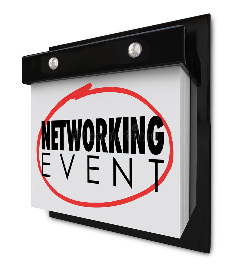 Networking Event Wall Calendar Words Reminder Business Meeting royalty free illustration